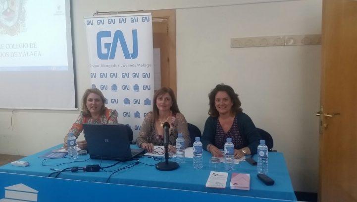 Presentacion de ACF a la sección de Abogados Jóvenes del ICA Málaga